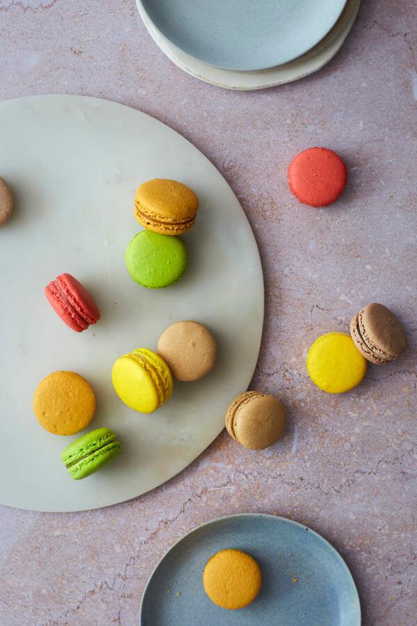 Top down image of Macarons